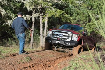 best truck winch about to pull a truck out